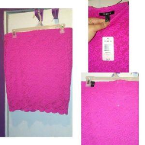 Torrid pink skirt