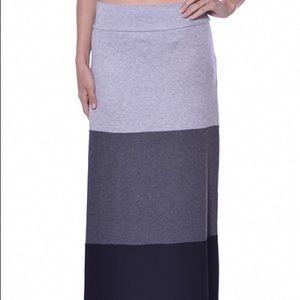 Color block skirt.