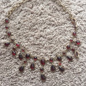 Jewelry - Costume red and gold jeweled necklace