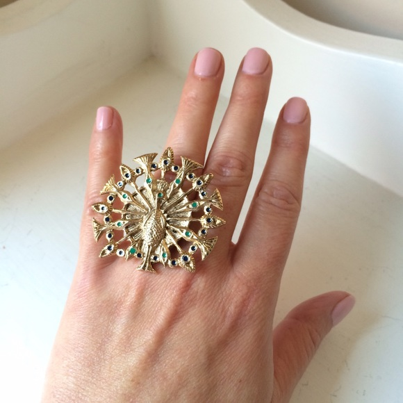 NWOT House of Harlow Peacock Statement Ring