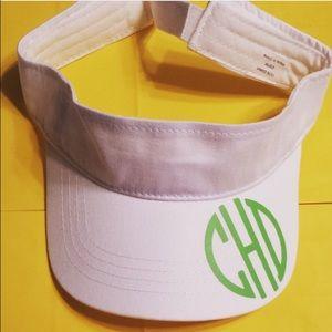 Monogrammed visor