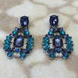 Iconic Legend Jewelry - Blue Resin Earrings