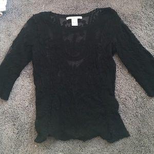 All lace black shirt