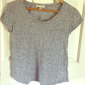 Gray Marled Shirt with pocket detail