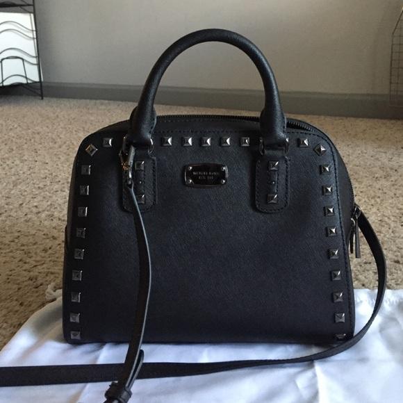e70e8111d760 MICHAEL KORS studded satchel.