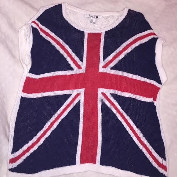 British Flag Sweater Forever 21