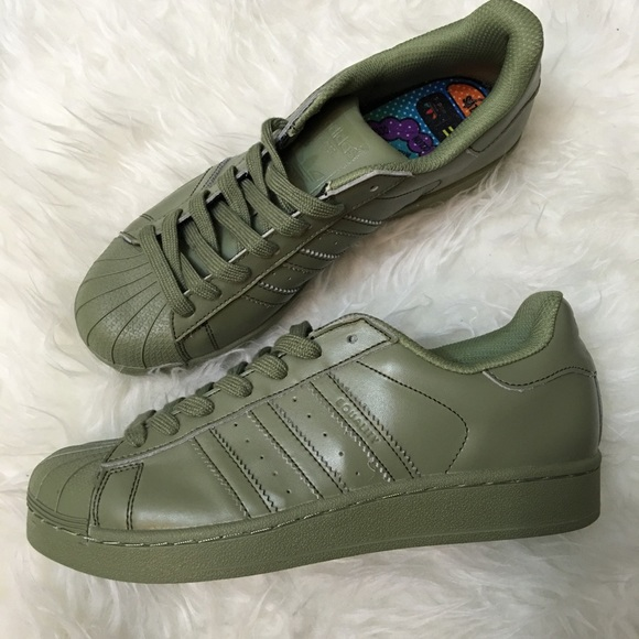 Adidas Shoes - ✨NEW! adidas olive green superstars✨ f98e37eeca
