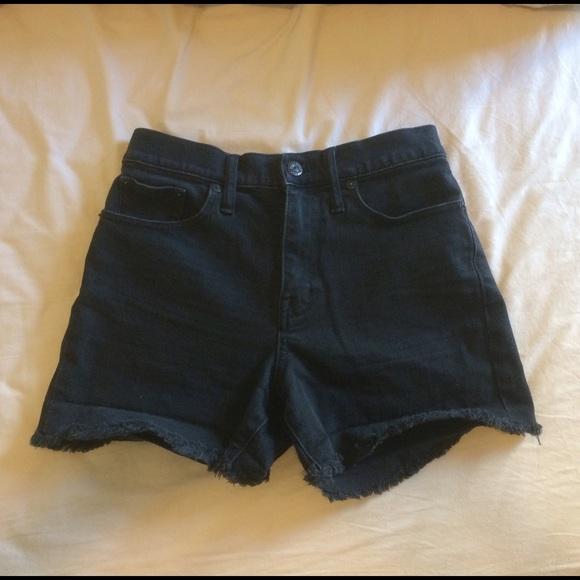299c2652e8 Madewell Pants - Madewell High-Rise Denim Shorts in Washed Black