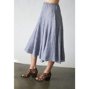 Dresses & Skirts - [CP Shades x Free People]chambray skirt