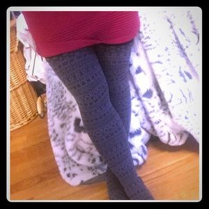 Accessories - Tribal Print Gray Tights With Black Snug Fit Top