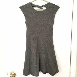 Aritzia Talula Fit and Flare Grey Dress Stretch