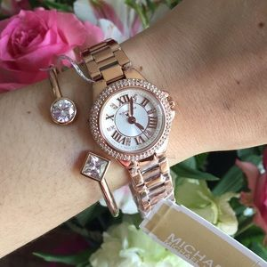 Michael Michael Kors Accessories Michael Kors Rosegold Watch And