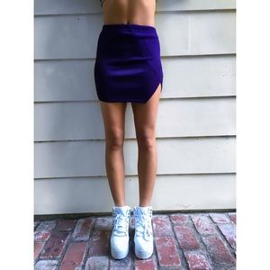 Slide Slit Purple Mini Skirt✨