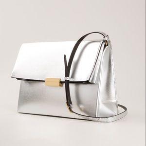 Stella McCartney Handbags - Stella McCartney Beckett Metallic Silver Bag