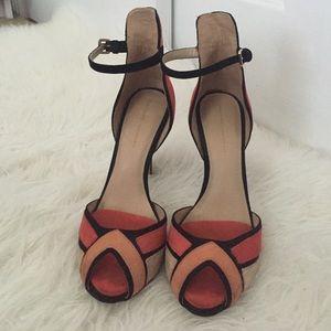 Zara Multi Color Ankle Strap Heels