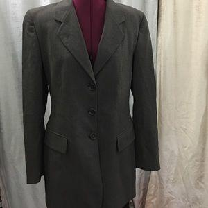 Luciano Barbera Jackets & Blazers - Luciano Barbera grey wool blazer