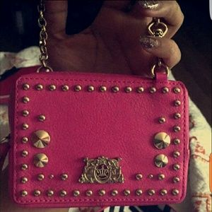 Juicy Couture Handbags - Juicy Couture Tough Girl Studded Leather Wristlet