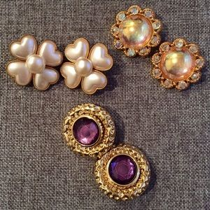 Vintage Jewelry - Amazing Vintage Finds - 3 Pairs of Costume Jewelry