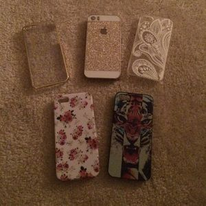 Accessories - Lot of FIVE 5/5s Cases