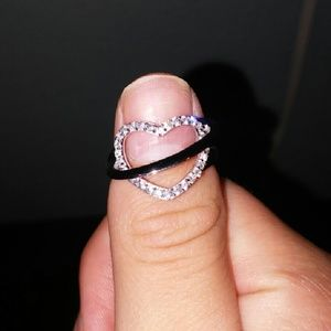 Heart ring with halo