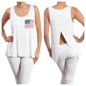 Tops - 1 HOUR SALE!! American Flag Open Back Top