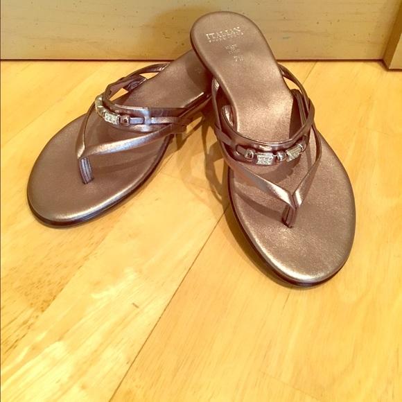 5739e203642d Italian Shoemakers Shoes - Italian shoemakers metallic silver sandals BLING
