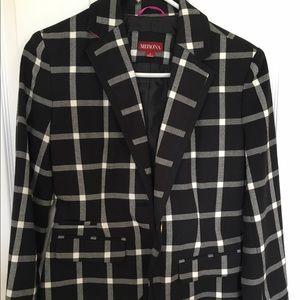Merona black and white checkered Blazer