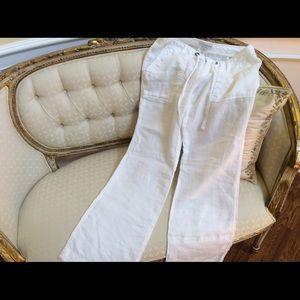 Banana Republic 100% linen pants Martin Fit Size 6