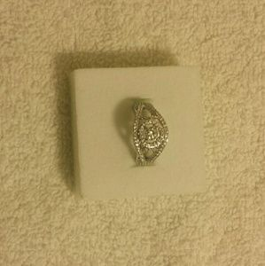 1.47 CT Round Cut 14k White Gold Engagement Ring 6