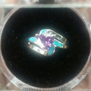 Jewelry - GORGEOUS AMETHYST & OPAL RING