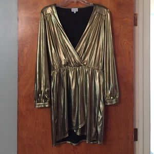 Zappos Dresses & Skirts - Metallic gold dress. Great for a big night out!