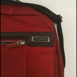 Acegene crossbody computer bag ,Red