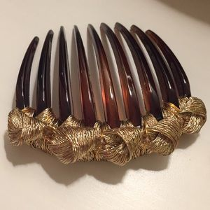 Mesh Knotted Tort Comb w Swarovski Crystals ✨Firm✨