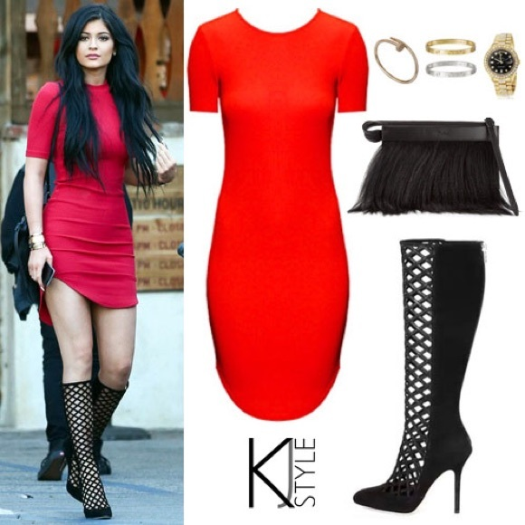 H&M Dresses & Skirts - Kylie Jenner Red Dress