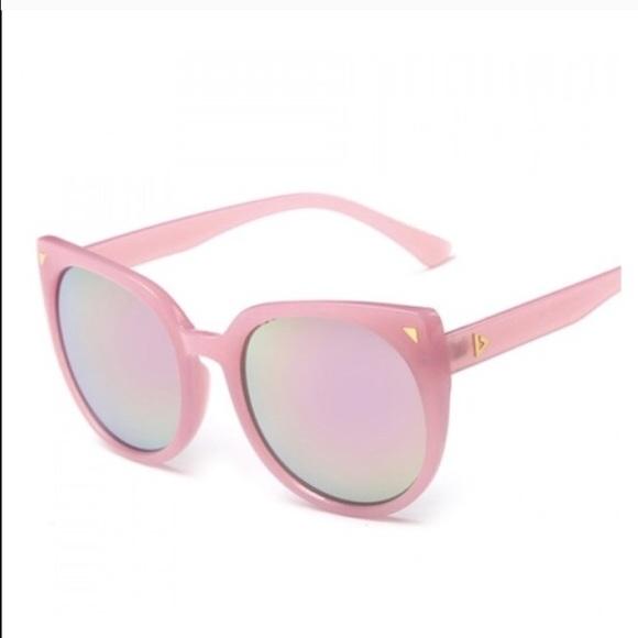 6efe5dc78d Pink mirrored cat eye sunglasses