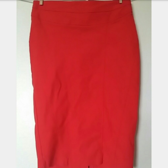 66% off Dresses & Skirts - Bright Red Pencil Skirt NWOT from ...
