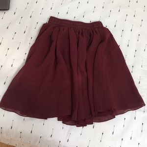 Dresses & Skirts - Chiffon Burgundy  skirt