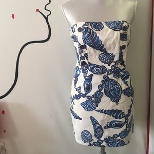 Blue and white Lilly Pulizter dress