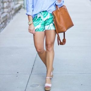 Old Navy Pants - Green & White Palm Leaf Shorts