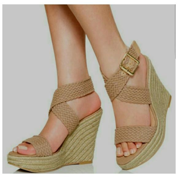 2e1a410b3c6 JustFab Shoes - Just Fabulous Espadrille Wedge Amanthi