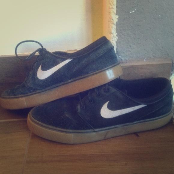 Nike Shoes Stefan Janoski Black With Gum Sole Poshmark