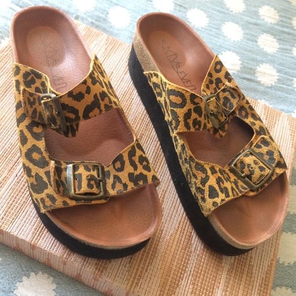 Free People Shoes   Leopard Platform