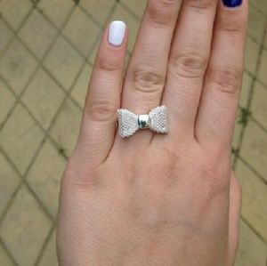Silver Bow Statement Ring