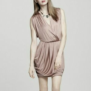Black Halo Dresses & Skirts - Black Halo Nude Drape Dress
