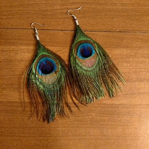 Jewelry - CLEARANCE Peacock Feather Earrings