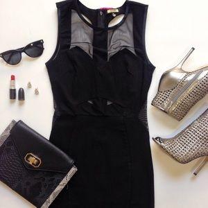a'gaci Dresses & Skirts - NWT Black Mesh Open Back Mini Dress