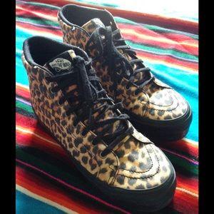 38dba0da85 Vans Shoes - Vans 7.5 platform cheetah print sneakers BUNDLE