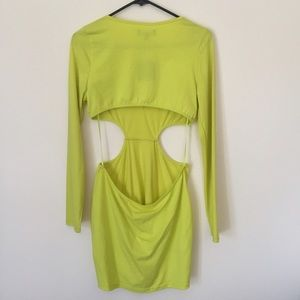 Blaque Market Dresses - Yellow Cut Out Dress
