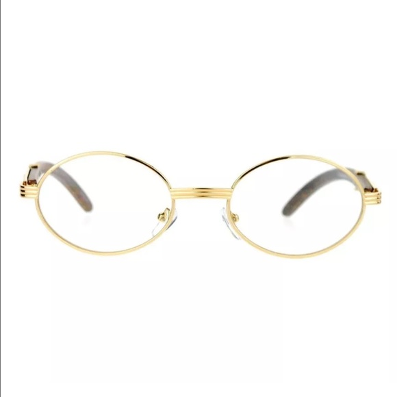 b1525e75a6aa Gold Frame Vintage Cartier Look Clear Eyeglasses. M 57574a4199086a5aa50231f4