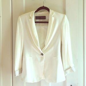 Zara white blazer in XS